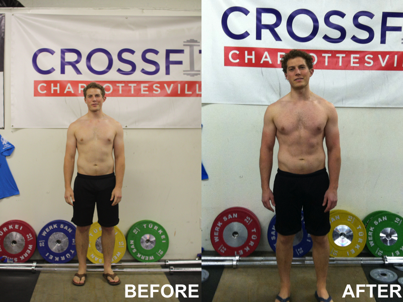 rowing machine results before and after