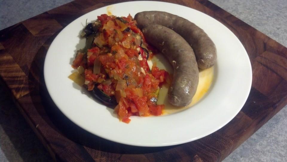 Ratatouille and Sausage